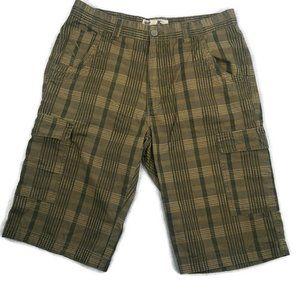 Burberry Brit Shorts Mens Brown Plaid Size 32